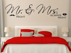 Wandtattoo Mr Right Mrs Always Right