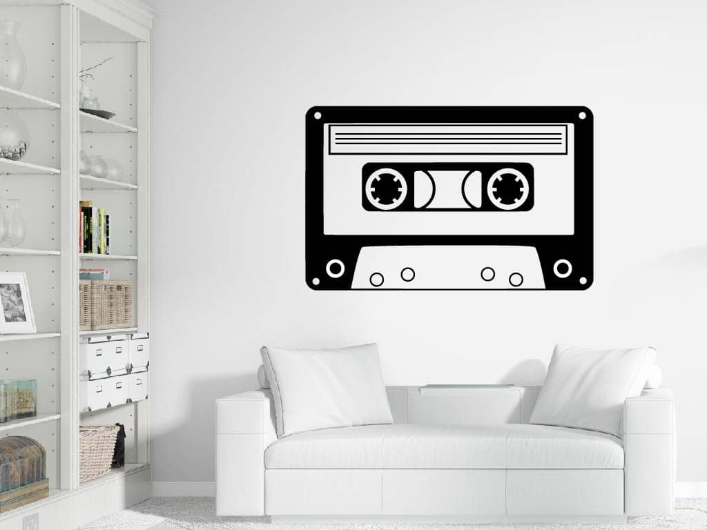 Wandtattoo Retro Tape Kassette