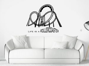 Wandtattoo Life is a Rollercoaster