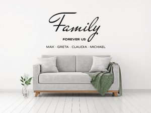 Wandtattoo 910133 Family Forever Us