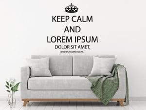 Wandtattoo Keep Calm and Lorem Ipsum